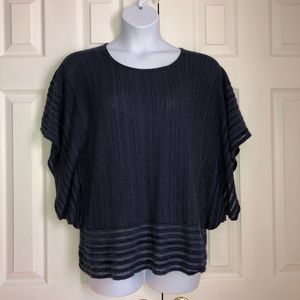 Catherines Plus Size Navy Blouse